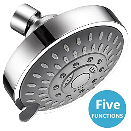 Shower Head High Pressure 4 Inch 5-setting Adjustable Shower Head ...