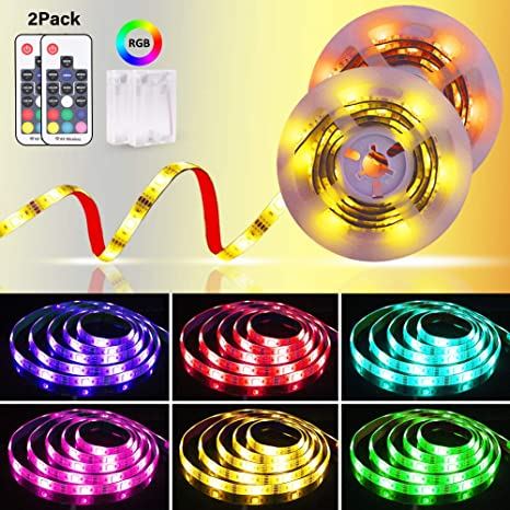 Controller Multi Color 5m Flexible RGB LED Strip Light With Battery Box