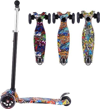 Amazon.com: Hikole - Patinete para niños, 3 ruedas, mini ...