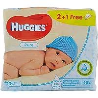 Huggies Pure Toallitas para Bebé - Paquetes de 4 x 56 toallitas - Total: 224