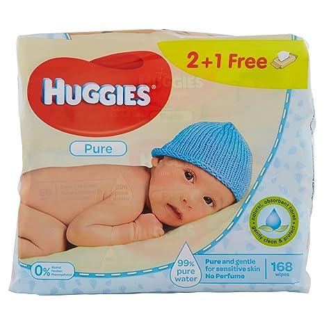 Huggies Pure Toallitas para Bebé - 3 Paquetes