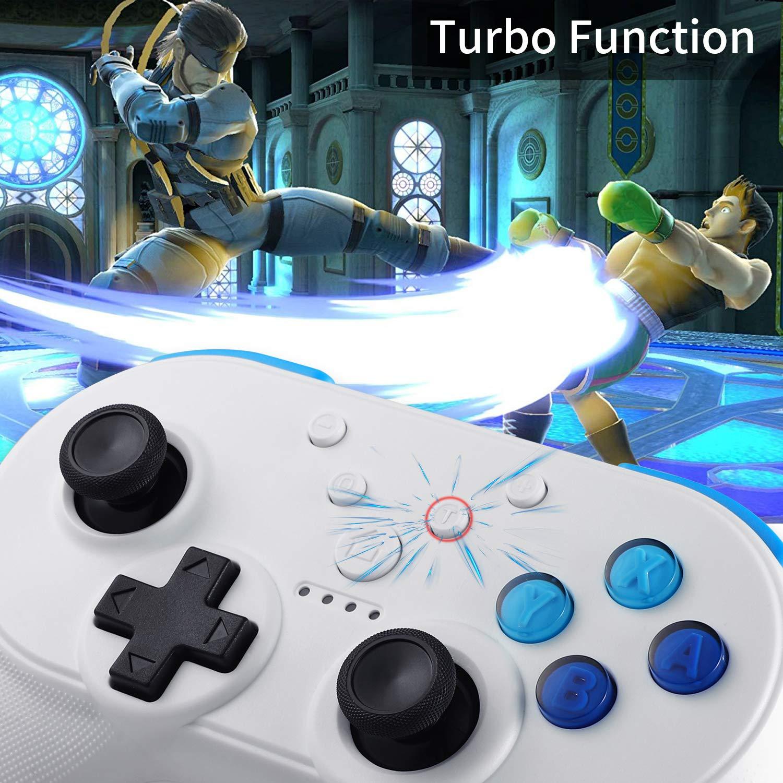 Yocktec Mando inalámbrico para Nintendo Switch, [Función NFC] [Soporte de Amiibo] [HD Rumble Turbo] [Vibración Doble] Bluetooth Mando Gamepad Joystick para ...