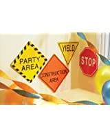 """Construction Party Supplies -7"""" Traffic Signs"""