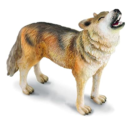 amazon com collecta woodlands timber wolf howling toy figure
