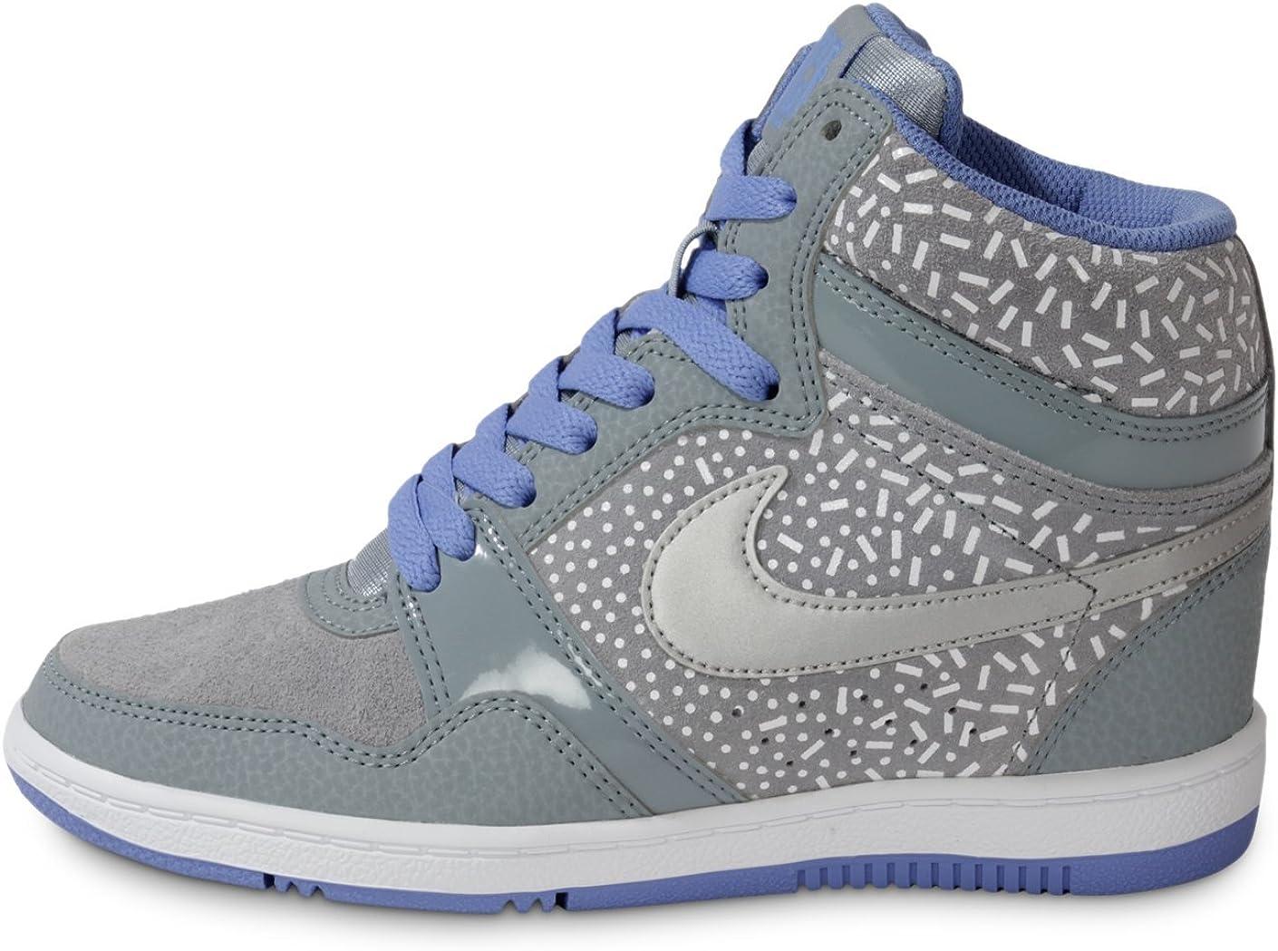 Diseño de impresión Sky para Mujer Force Nike Traje de Neopreno para Mujer Sport Zapatillas de Hi Tops Zapatos de Cordones Protectores de Calcetines para