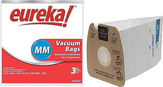 3 Pack Replacement Type MM Vacuum Bag for Eureka 60295 Bag