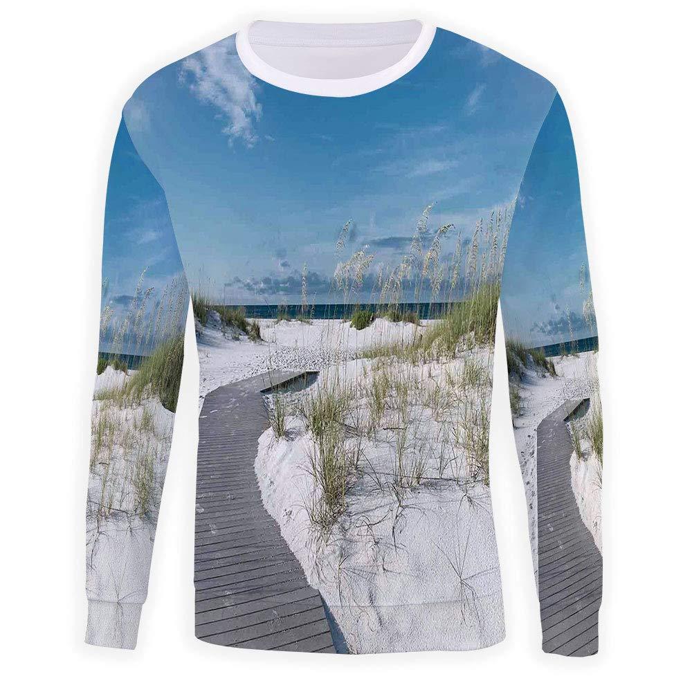 MOOCOM Unisex Beach Sweatshirts Crewneck