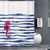 "Cortina de ducha Impermeable Resistente al Moho Cortinas baño PEVA Bañera Cortina con 12 Gancho de la cortina de ducha 180 x 200 cm (72 ""An. X 78"" Alt.) Pulgadas"