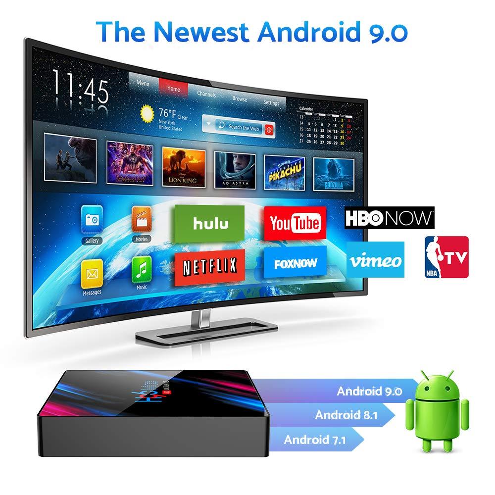 Android 9.0 TV Box Android TV Box 9.0 4GB RAM 32GB ROM RK3318 Quad ...