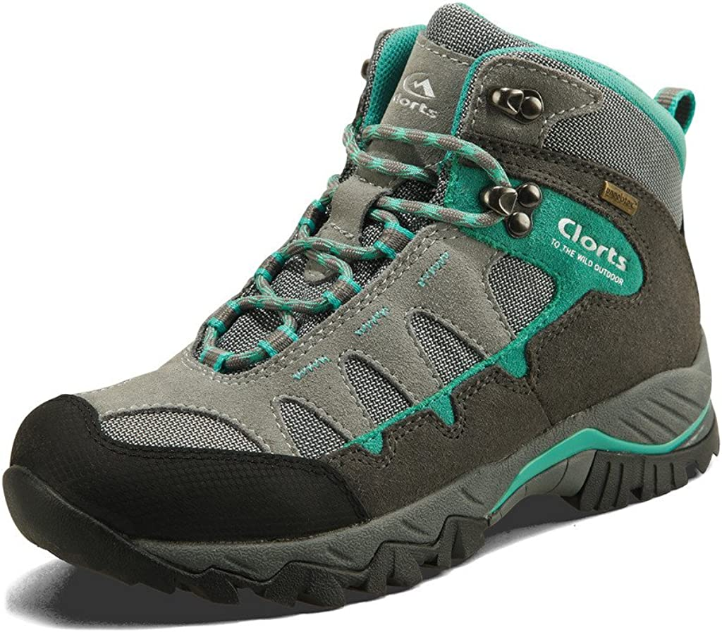 | Clorts Women's Hiker Waterproof Lightweight Hiking Camping Boot Outdoor High-Traction Grip Backpacking Shoe | Hiking Boots