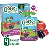 GoGo squeeZ Unsweetened Applesauce Pouches, Apple Berry Flavour, Easy Nut-Free School Snack for Kids, 4 Pouches of 90…