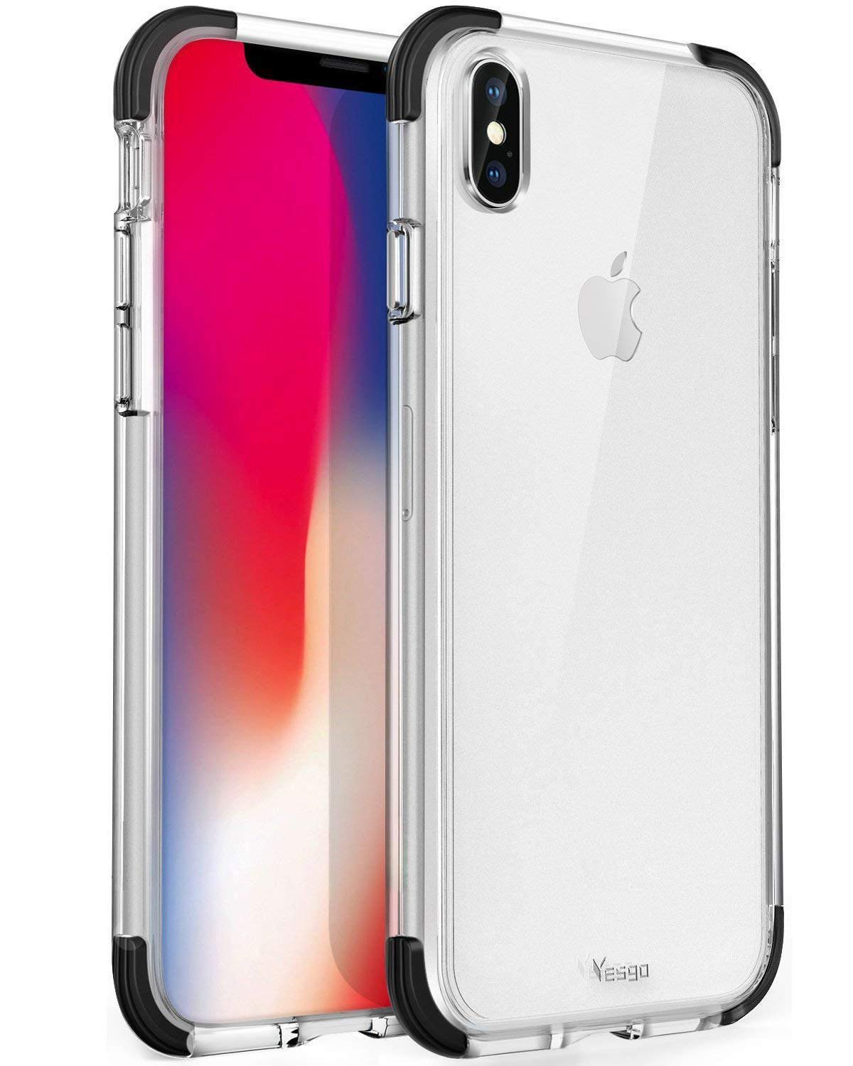 online store 5ffa9 6517b Mkeke Compatible with iPhone Xs Case,iPhone X Case,Clear Anti-Scratch Shock  Absorption Cover Case for iPhone Xs/X (Crystal Clear)