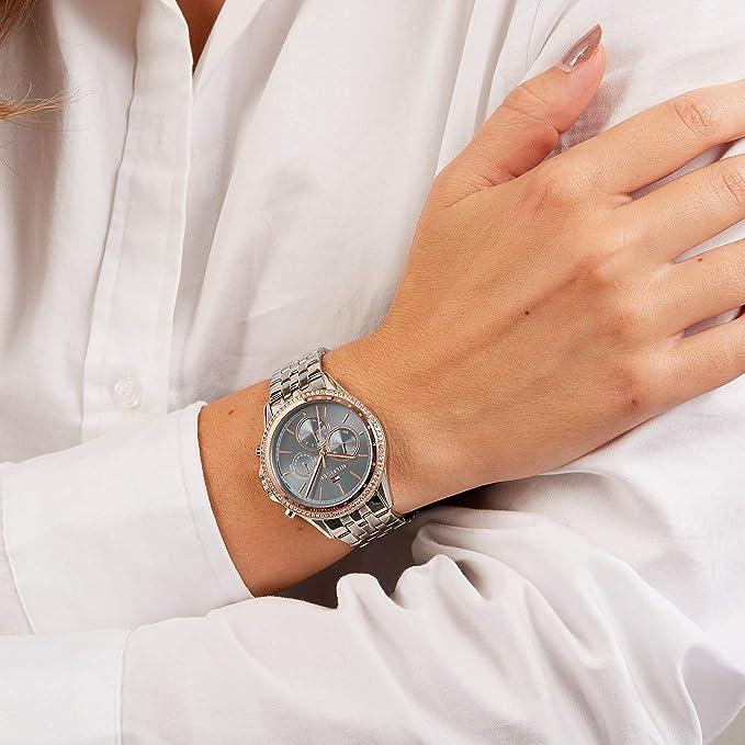 bdb36a899660 Tommy Hilfiger Reloj Multiesfera para Mujer de Cuarzo con Correa en Acero  Inoxidable 1781976  Amazon.es  Relojes