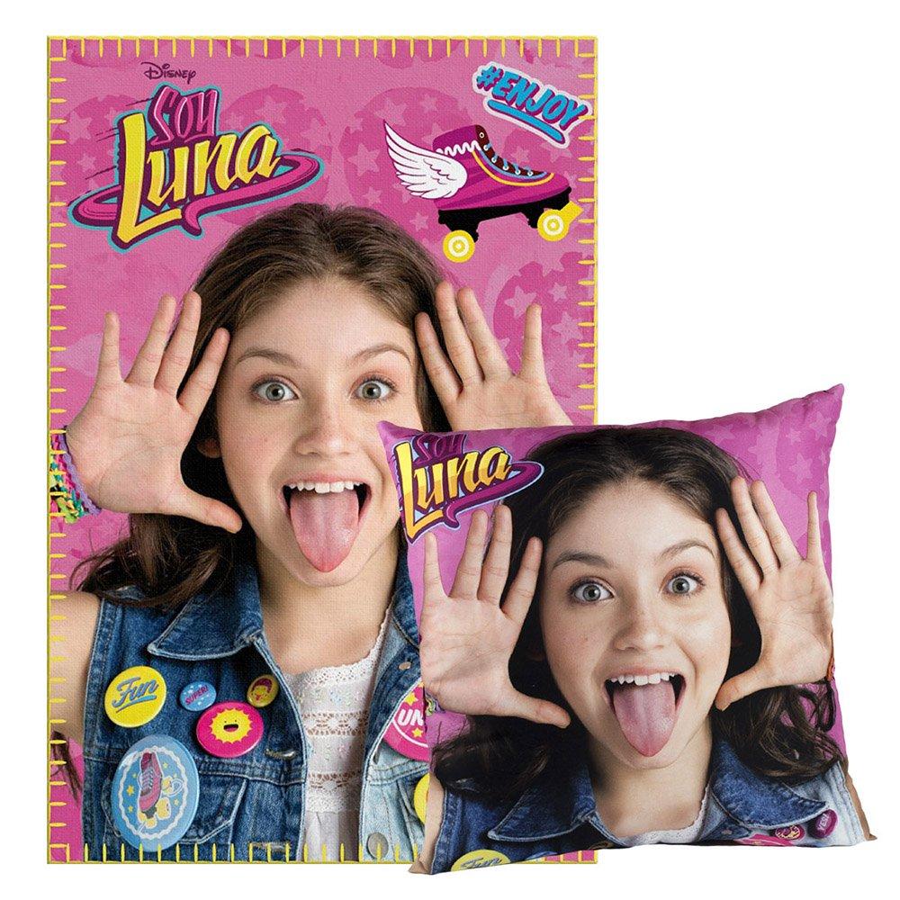 Cerdá Soy Luna Fleecedecke und Kissen, 150x 100x 15cm, Rosa 2200-1661 2200001661_8