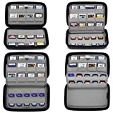 Sisma 72 Game Cartridge Holders Storage Case for 32 Nintendo 3DS DS Games and 40 Nintendo Switch Sony Ps Vita Games SD Memory Cards, Black