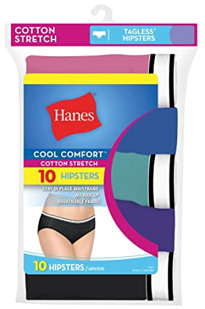 40d726e57291 Hanes Women's 10-Pack Cool Comfort Cotton Stretch Hipsters (8/XL) at ...