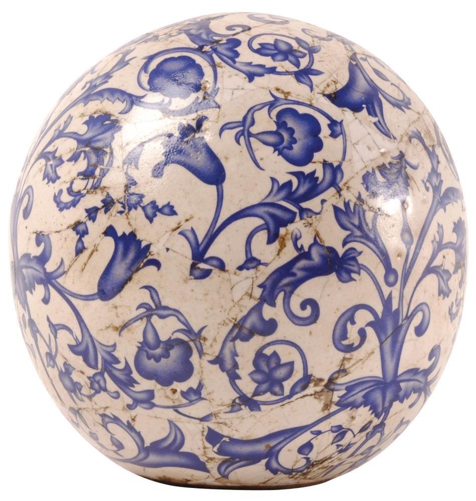 Esschert Design Ceramic Decorative Ball Garden Ball In Blue And White, Various Sizes Esschert Design Deutschland