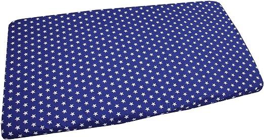 Sterne Dunkelblau Farbe 90 x 200 cm TupTam Baby Spannbettlaken mit Gummizug Gemustert Gr/ö/ße
