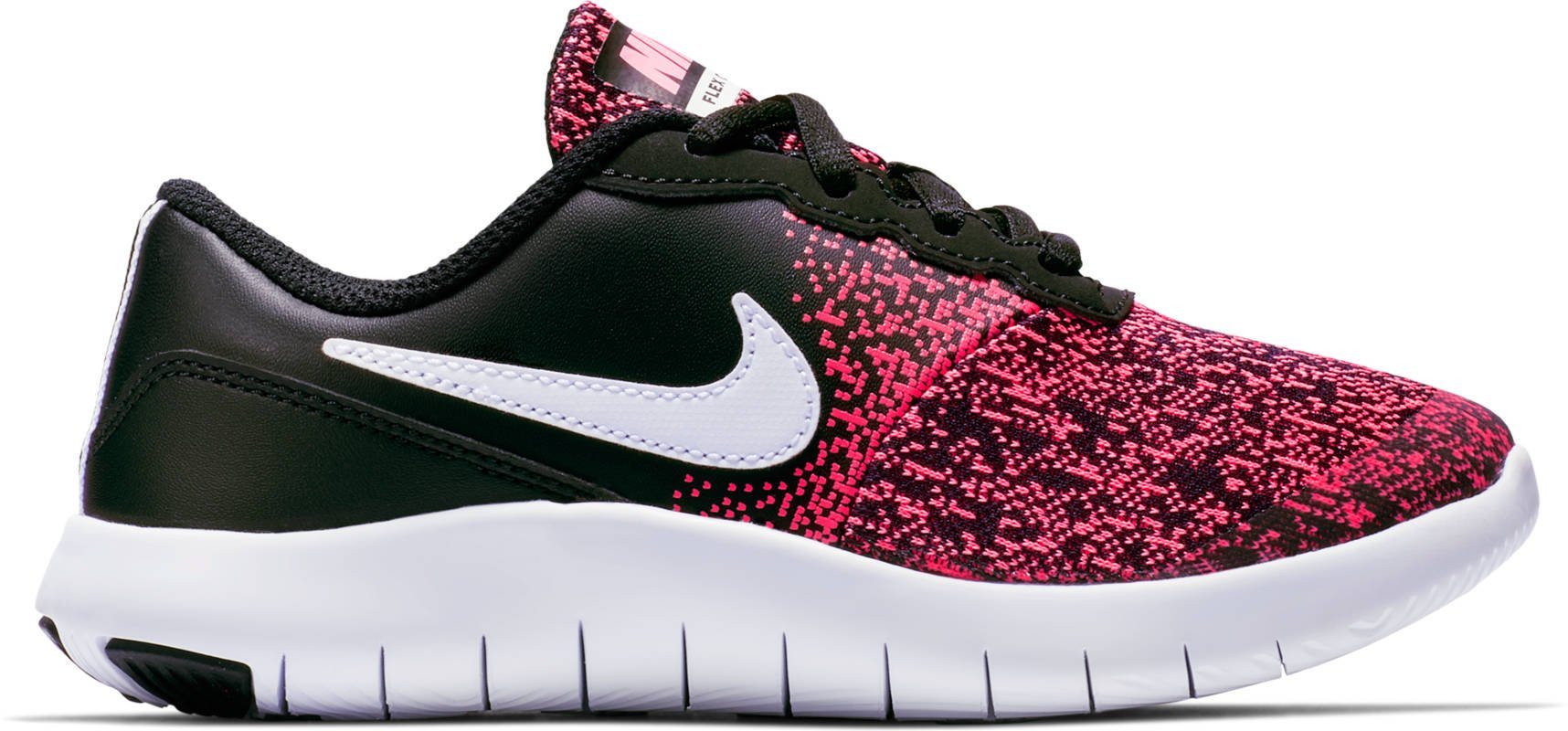 Nike Kids Flex Contact (PS) Shoes Black White Racer Pink Size 2.5