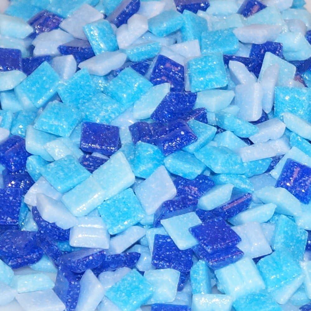 Mixed-store 803015 - Mosaico de vidrio de 20 x 20 x 4 mm, 700 g, mezcla azul