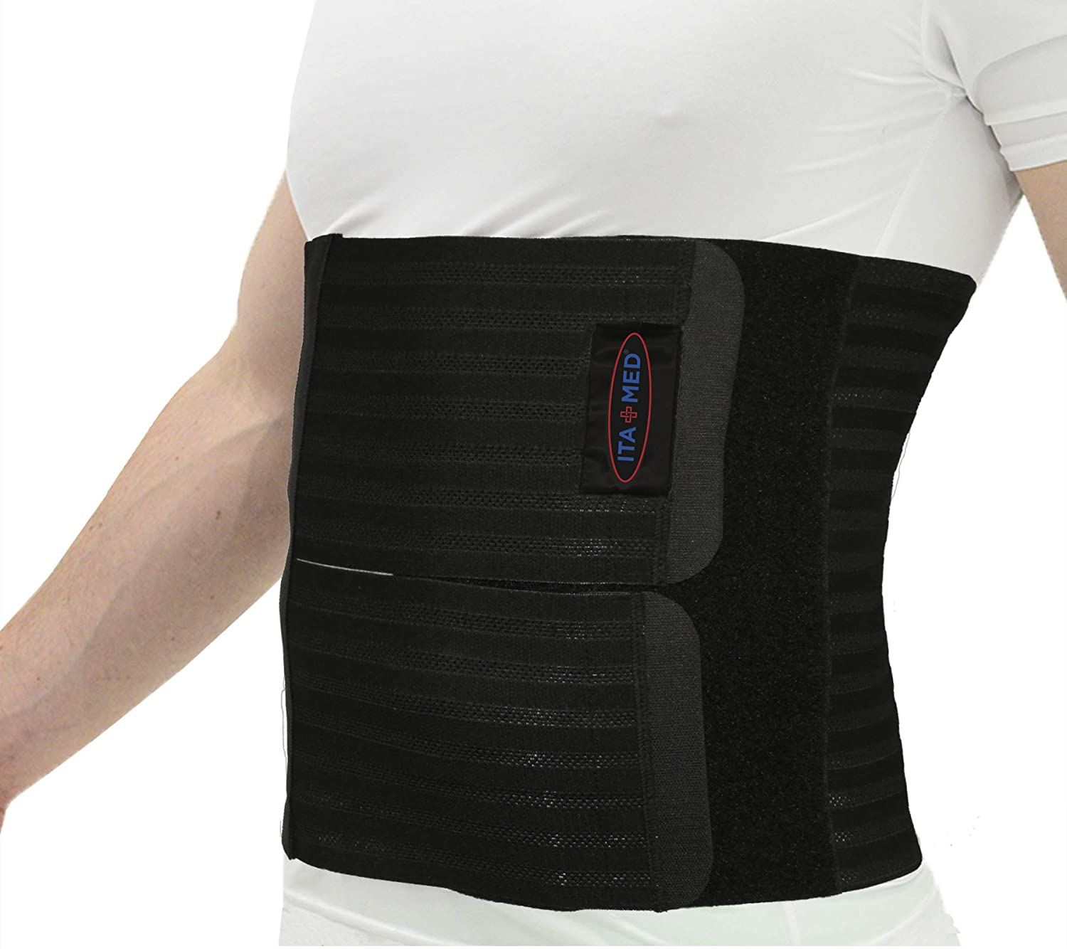 ITA-MED Men's Breathable Elastic Postsurgical Recovery Abdominal and Back Support Wrap/Binder AB-412(M): Large(38