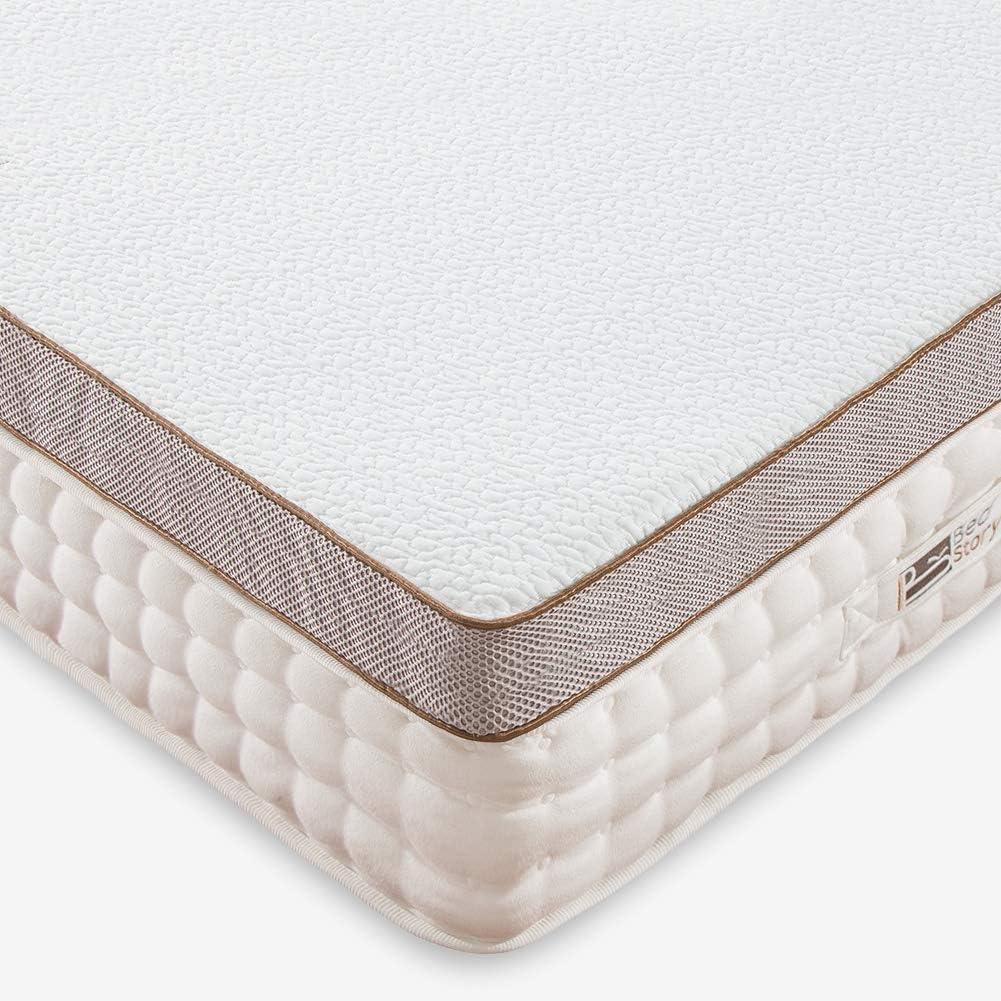 BedStory Cubrecolchón de espuma viscoelástica de 7,6 cm, 140 x 200 cm, para camas incómodas, camas con somier