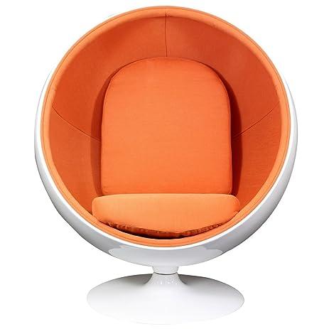 Amazon.com: Modway Eero Aarnio Style Ball Chair in Orange: Kitchen ...
