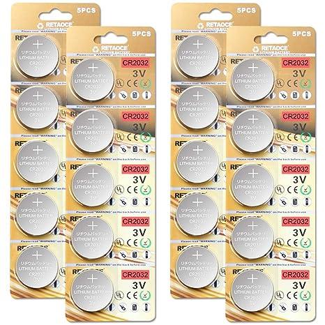 CR2032 3V Batterien CR 2032 Knopfzelle (Lithium Knopfzellen - 3 Volt) (CR2032-20 Stück)