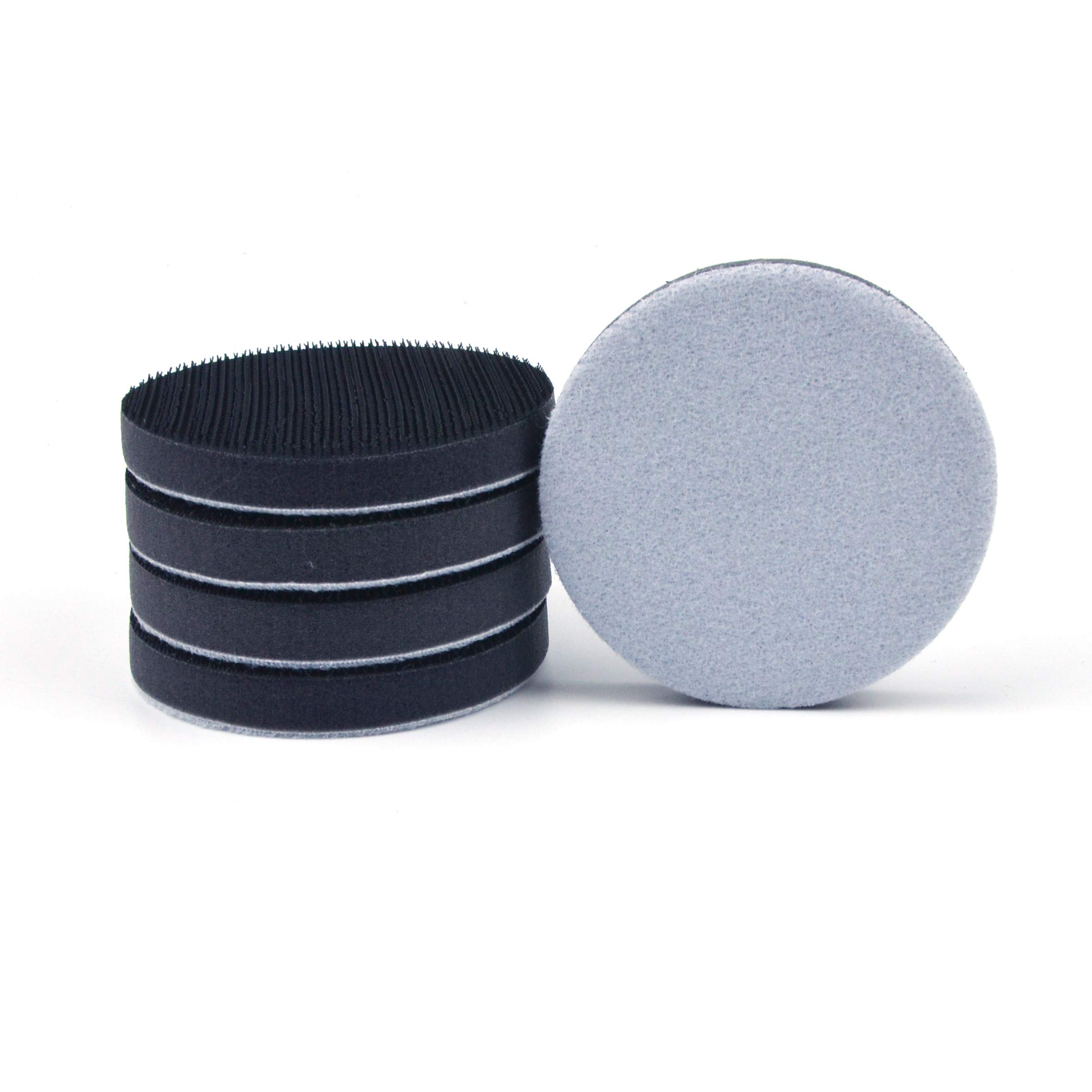 3 Inch (75mm) Hook and Loop Soft Foam Buffering Pad for 3'' Sanding Pad, 5 Pack by e-ROOKIE