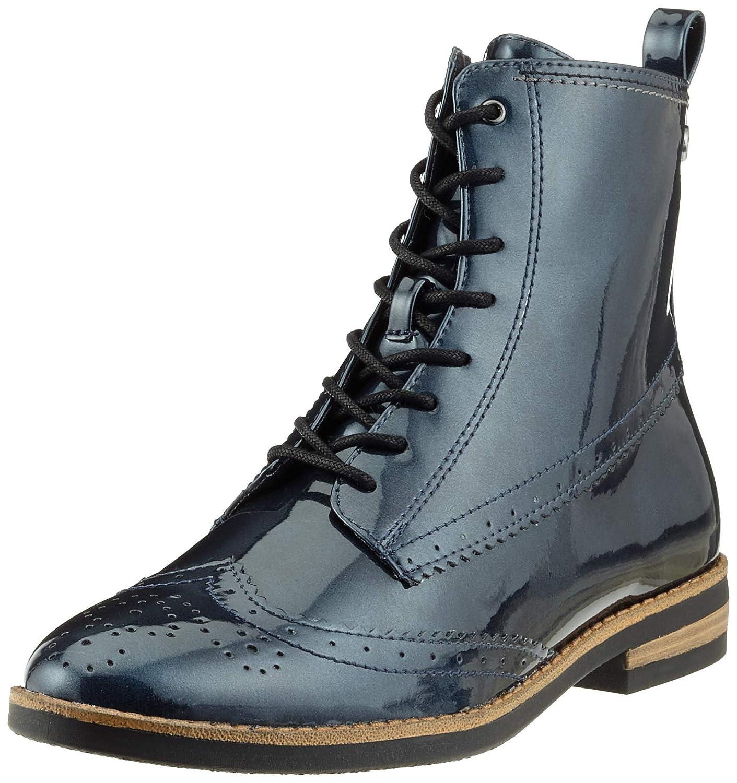 Blau (Navy Patent 826) Tamaris Damen 25119-21 Combat Stiefel