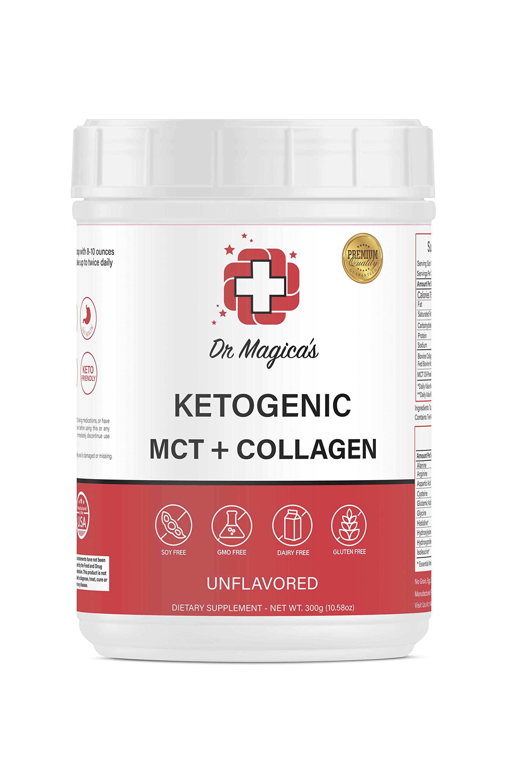 Dr Magica's Ketogenic MCT & Collagen Powder Combo for Keto Diet by Dr. Magica's