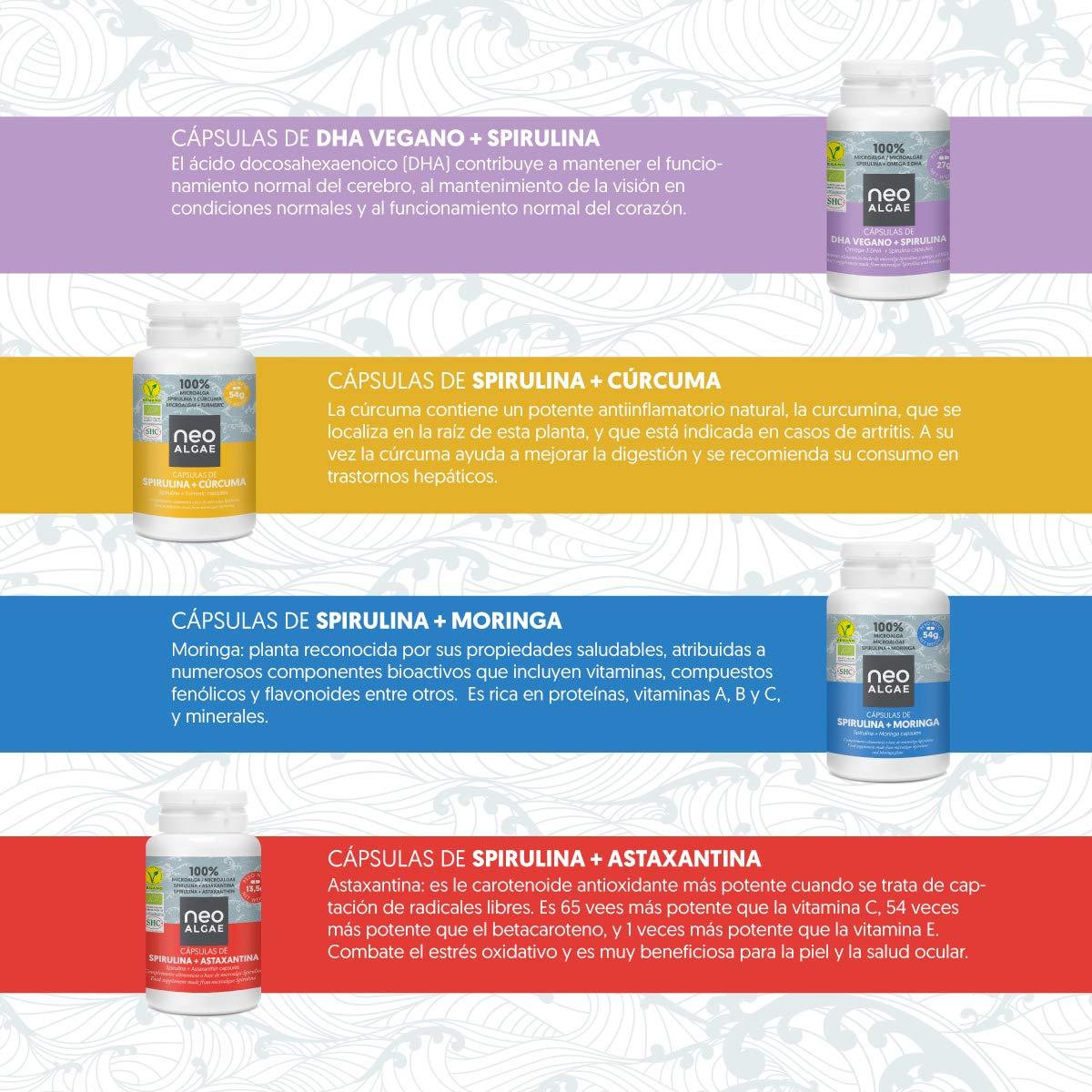 ... 100% Orgánica y Natural | Potente Complejo Antioxidante | 350 mg por Cápsula | 30 Cápsulas por Envase | Neoalgae: Amazon.es: Alimentación y bebidas
