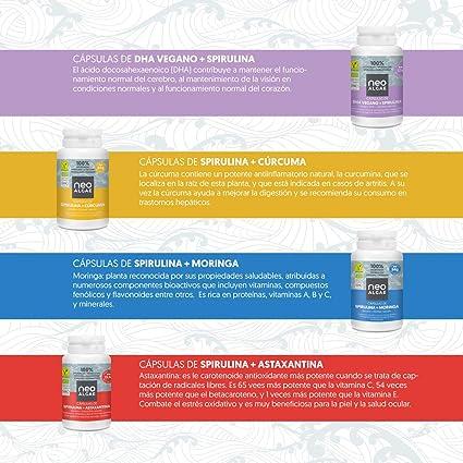 Astaxantina en Cápsulas (5 mg) con Spirulina | Producción 100 ...