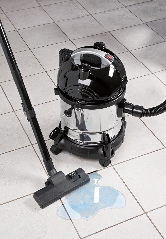 Clatronic BS 1285 Aspiradora en seco y húmedo, 1600 W, 20 litros, 1 Decibelios, Negro/Acero inoxidable: Clatronic: Amazon.es: Hogar