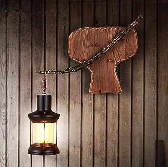 WLL Wandleuchte Single Head Industrial Vintage Retro Holz Oder Metall  Malerei Wandleuchte Gemälde Für Home Hotel