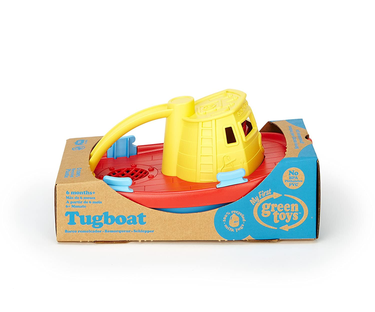 Amazon.com: Green Toys My First Tugboat - BPA, Phthalates Free Bath ...