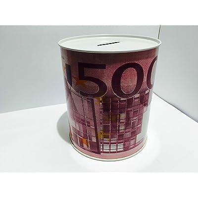 takestop Juego 2 Piezas Hucha de Lata tamaño M para Monedas y Billetes 1 Apertura sin Llave diseño Aleatorio: Juguetes y juegos