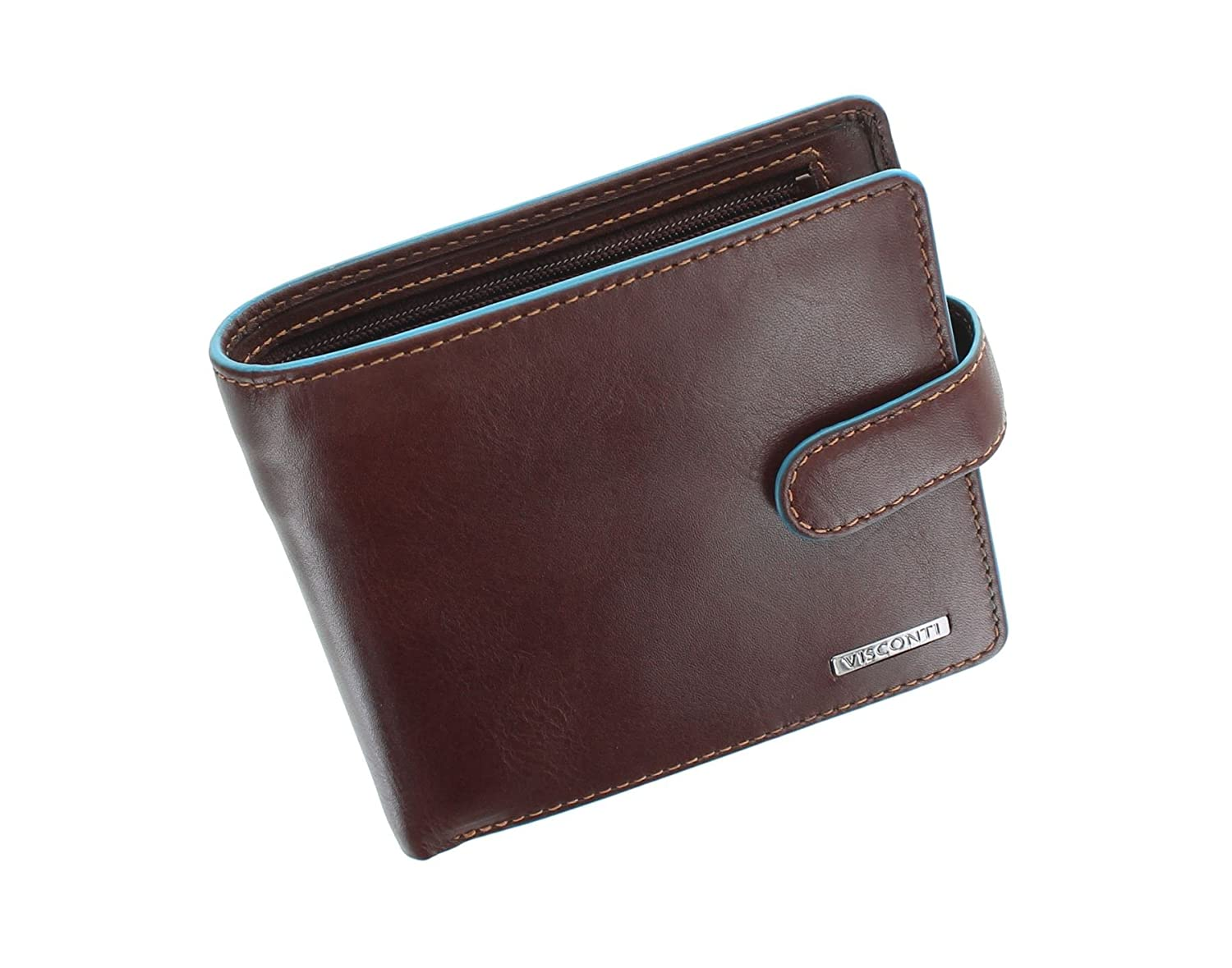 Visconti Alps Collection TOM Bi-Fold Leather Wallet With RFID Protection - ALP86 Black