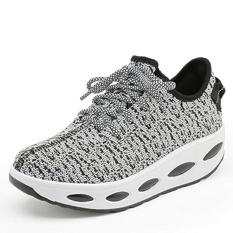 087944c682f9b Amazon.com : Hasag Rocking Shoes Female Mesh Breathable Autumn ...