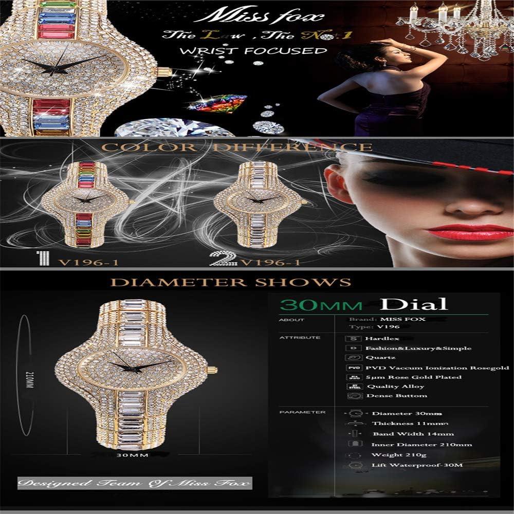 Petites Dames Montre Antichoc étanche Dames métal Montre Bracelets Strass bu Pas Cher Montres Chinoises 30 mm Multicolore
