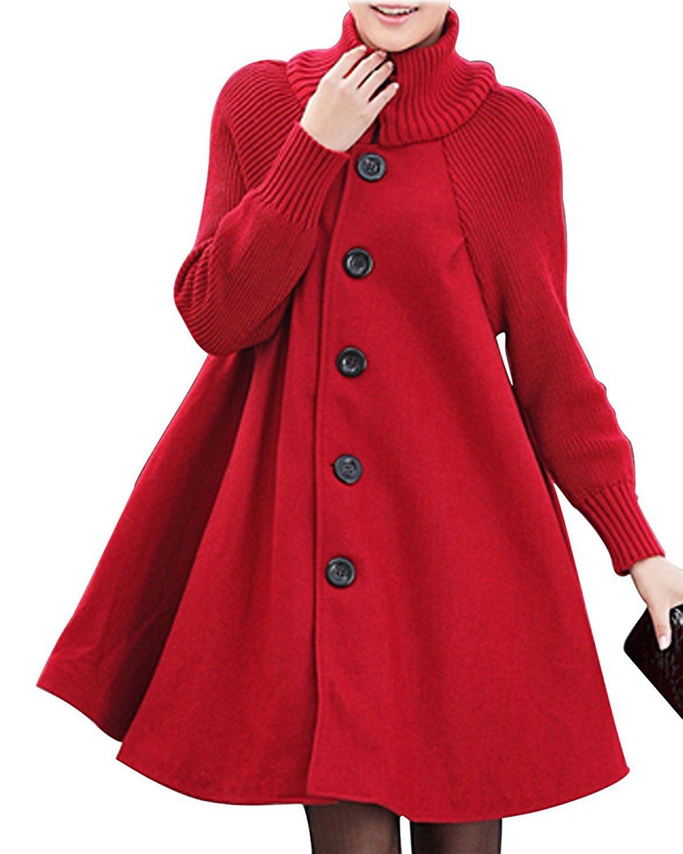 BIUBIU Women's Long Sleeve Cowl Neck Button Down Loose Trendy Sweater Dress BIUBIUB682FA50