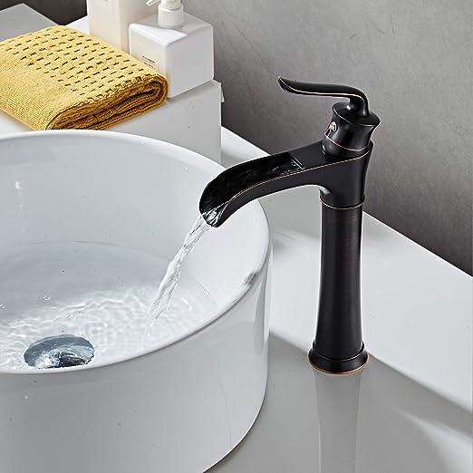 Amazon.com: MYHB - Grifo monomando para lavabo de baño, 8012 ...
