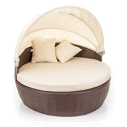 3172cfedf229 Alfresia Bali Polyrattan Island Sofa Day Bed & Coffee Table: Amazon ...
