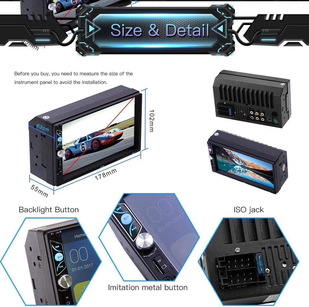 runnerequipment Radio FM Bluetooth Lecteur MP5 4,1 Pouces 1 Din Voiture Autoradio St/ér/éo Audio Peut /être connect/é /à la cam/éra de recul