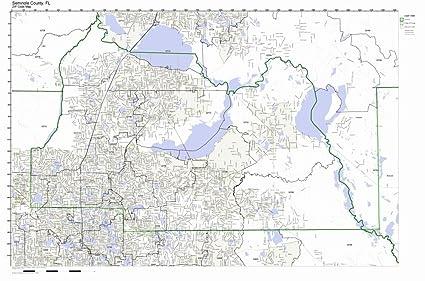 Florida Current Map.Amazon Com Seminole County Florida Fl Zip Code Map Not Laminated