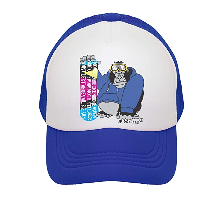 9ffc3492cb3 Snowboarding Gorilla on Kids Winter Trucker Hat. The Kids Baseball Cap is  Available in Baby