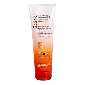 Giovanni Cosmetics 2chic Ultra-Volume Shampoo, Tangerine/Papaya Butter, 8.5 Ounce