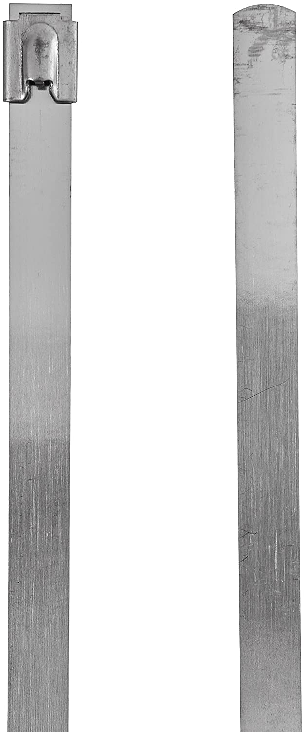 Monoprice SS316 Stainless Steel Cable Tie 31.534; Long 12mm Wide x 800mm Long 50 Pack