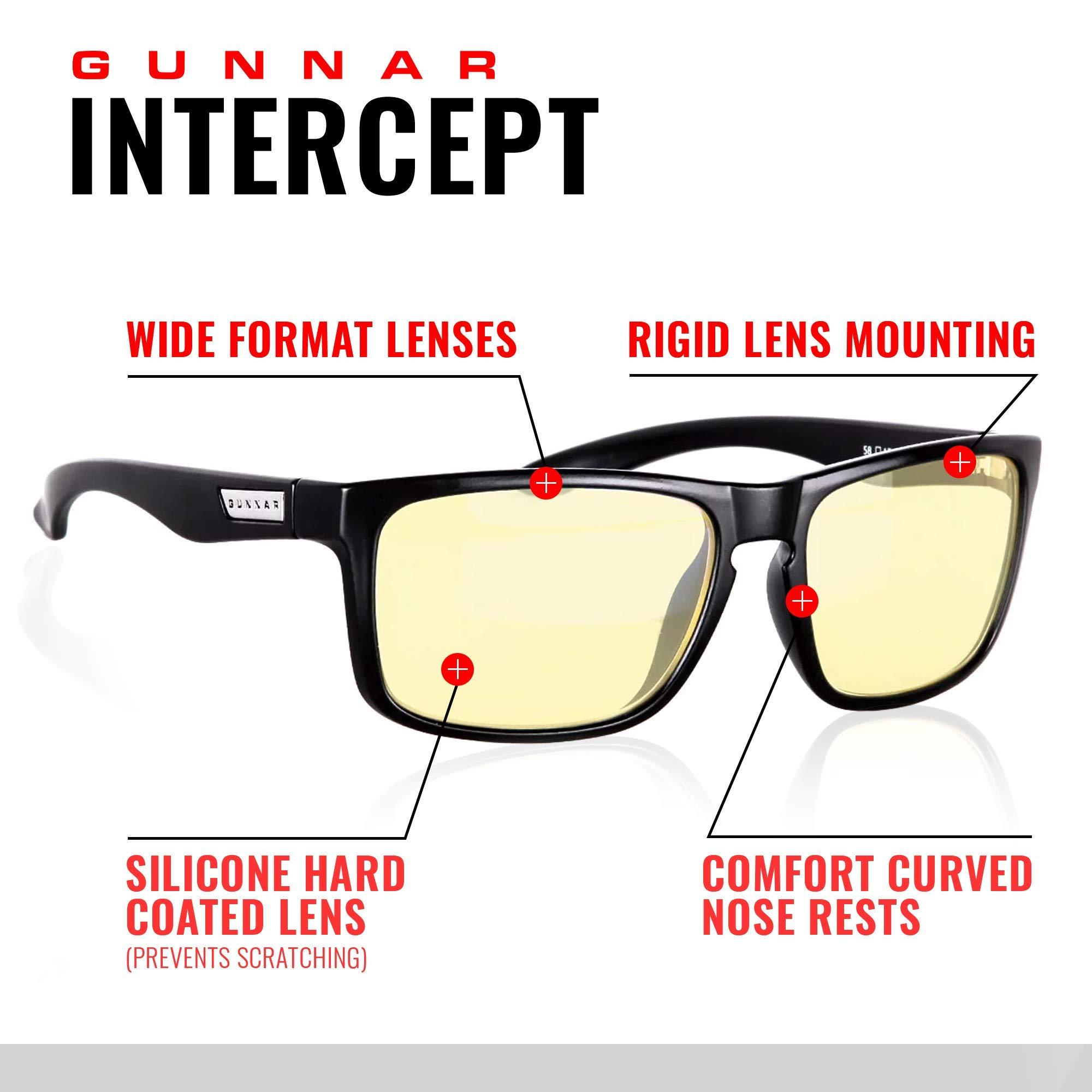 GUNNAR Gaming and Computer Eyewear /Intercept, Amber Tint - Patented Lens, Reduce Digital Eye Strain, Block 65% of Harmful Blue Light by Gunnar Optiks (Image #2)