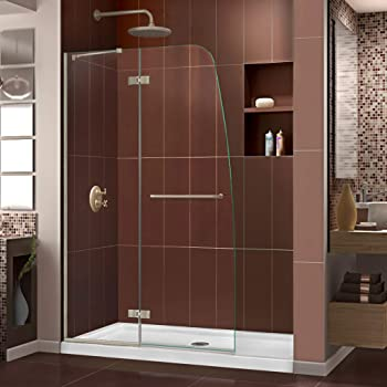 DreamLine Aqua Fold 29 1/2 in. W x 72 in. H Frameless Bi-Fold Shower ...